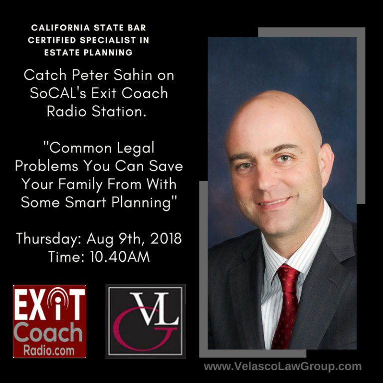 Peter Sahin will feature on SoCAL's Exit Coach Radio Station
